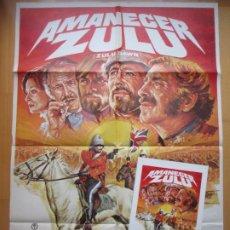 Cine: CARTEL CINE + 8 FOTOCROMOS + GUIA AMANECER ZULU BURT LANCASTER PETER OTOOLE 1979 MAC CCF203. Lote 244024345
