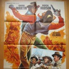 Cine: CARTEL CINE + 12 FOTOCROMOS AMIGOS HASTA LA MUERTE DEAN MARTIN ROCK HUDSON 1973 MAC CCF204. Lote 244024855