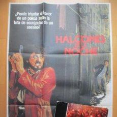 Cine: CARTEL CINE + 12 FOTOCROMOS HALCONES DE LA NOCHE SYLVESTER STALLONE 1981 CCF207. Lote 244026430