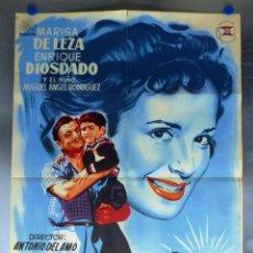 Cine: CARTEL EL SOL SALE TODOS LOS DIAS, MARISA DE LEZA, ENRIQUE DIOSDADO - AÑO 1958 - LITOGRAFIA. Lote 244183475
