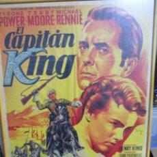 Cine: UNICO CARTEL ORIGINAL DE EPOCA - EL CAPITAN KING - TYRONE POWER - SOLIGO. Lote 244405345