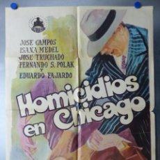 Cine: CARTEL HOMICIDIOS EN CHICAGO, JOSE CAMPOS, ISANA MEDEL, EDUARDO FAJARDO - AÑO 1969. Lote 244486225