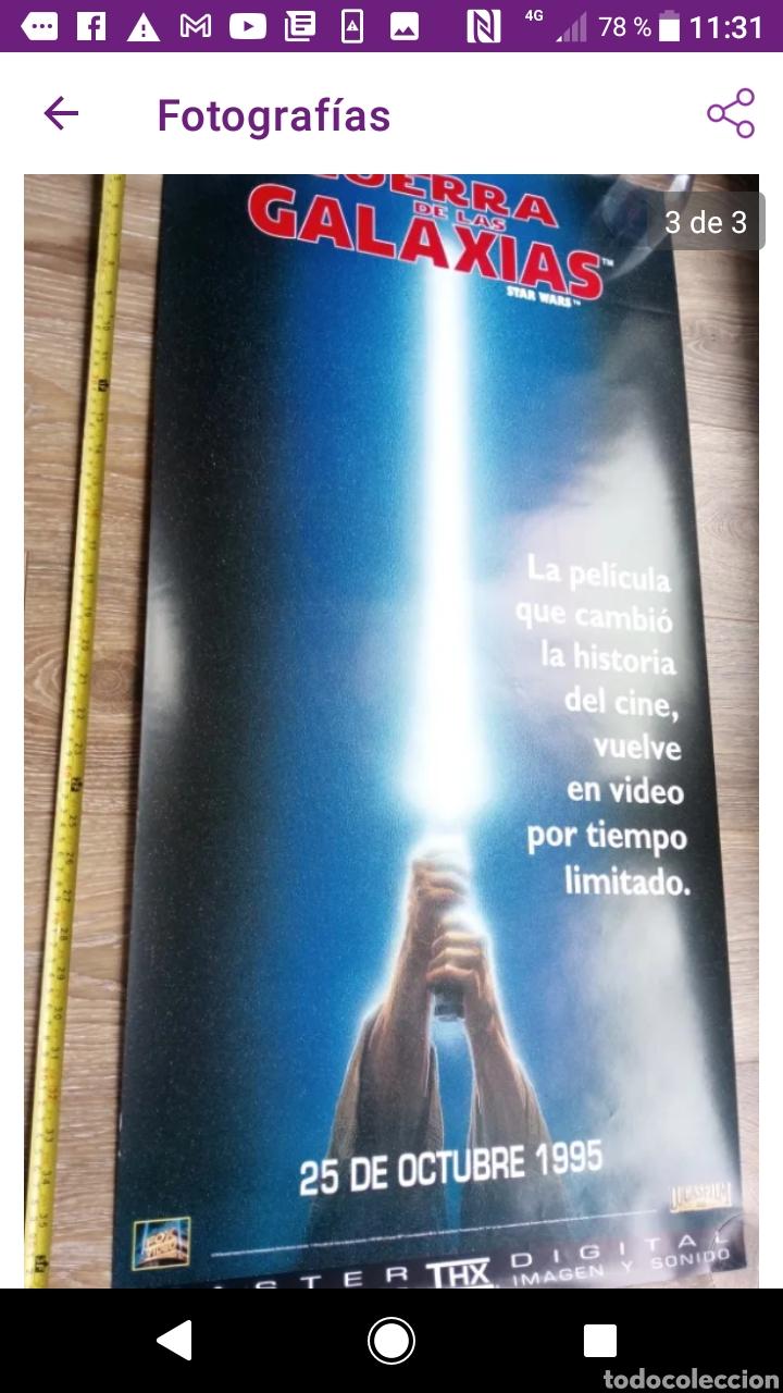 AUTÉNTICO PÓSTER LA PELÍCULA STAR WARS 1995 LUCAS FILM 96X46 APROX (Cine - Posters y Carteles - Ciencia Ficción)