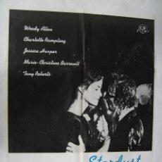 Cine: RECUERDOS, (STARDUST MEMORIES) DE WOODY ALLEN. PÓSTER 70 X 100 CMS..1980.. Lote 244541470