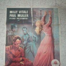 Cine: CARTEL CINE ORIGINAL ESPAÑOL LA SEPULTADA VIVA, MILLY VITALE, PAUL MULLER. Lote 244591640