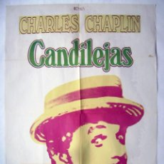 Cine: CANDILEJAS, CON CHARLES CHAPLIN. PÓSTER 69 X 98,5 CMS.1975.. Lote 244610015