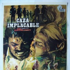 Cine: CAZA IMPLACABLE, CON OLIVER REED. PÓSTER 70 X 100 CMS. 1974.. Lote 244610885