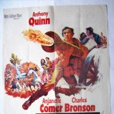 Cine: LOS CAÑONES DE SAN SEBASTIÁN, CON ANTHONY QUINN. PÓSTER 70 X 100 CMS. 1968.. Lote 244612015