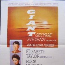 Cine: POSTER GIGANTE - GEORGE STEVENS. Lote 244618845