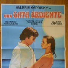 Cine: UNA GATA ARDIENTE / VALERIE KAPRISKY 100X70. Lote 244657150