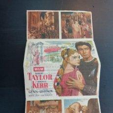 Cine: ANTIGUO CARTEL DE QUO CÁDIZ, 1954, ROBERT TAYLOR, Y DEBORAH KERR. Lote 244659970