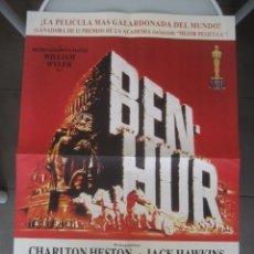 Cine: POSTER CARTEL CINE, BEN HUR. CHARLTON HESTON, HACK HAWKINS. EDICION LIMITADA NUMERADA. Lote 244681500