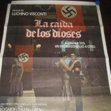 Cine: POSTER CARTEL CINE, LA CAIDA DE LOS DIOSES. FILM DE LUCHINO VISCONTI. ORIGINAL. Lote 244682685