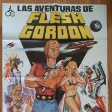 Cine: LAS AVENTURAS FLESH GORDON / CARTEL 100X70 ILUSTRA JANO. Lote 244855045