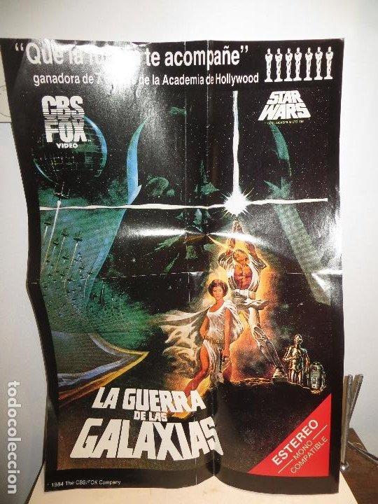 POSTER STAR WARS LA GUERRA DE LAS GALAXIAS EPISODIO IV GEORGE LUCAS 1984 ESTRENO VIDEO CBS FOX (Cine - Posters y Carteles - Ciencia Ficción)