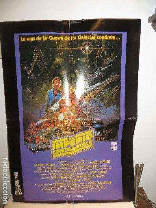 POSTER STAR WARS EL IMPERIO CONTRAATACA 1985 ESTRENO VIDEO CBS FOX,BUEN ESTADO,BARATO (Cine - Posters y Carteles - Ciencia Ficción)