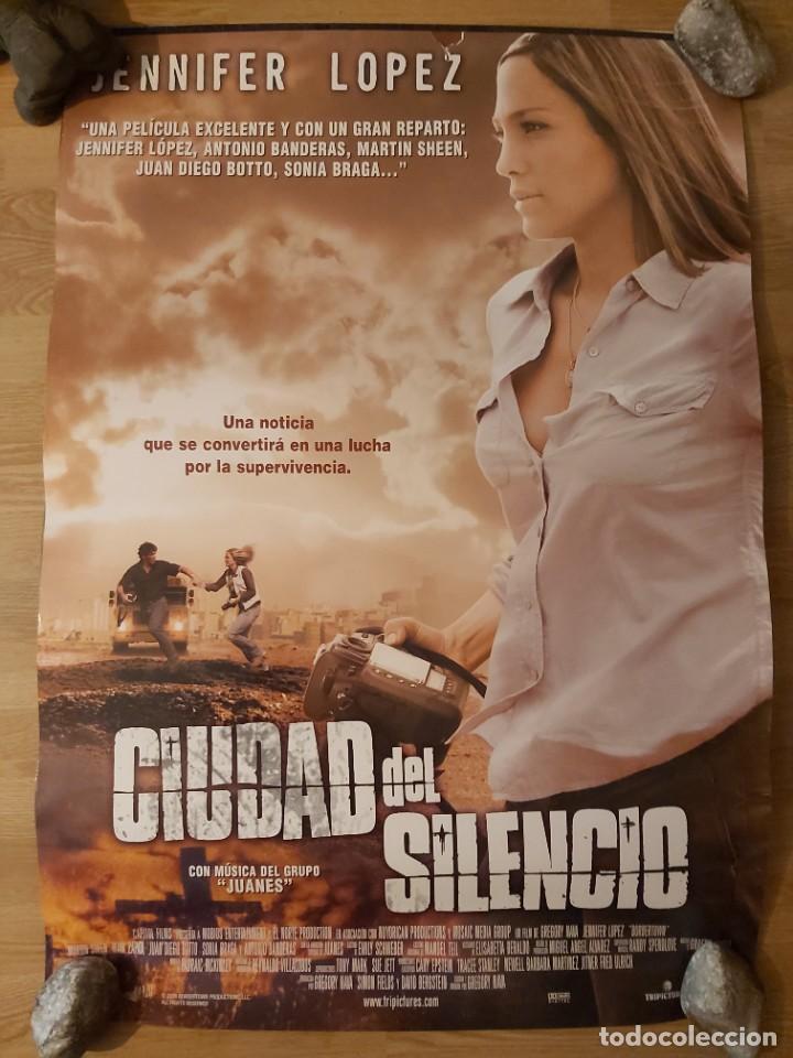 CIUDAD DEL SILENCIO - APROX 70X100 CARTEL ORIGINAL CINE (L83) (Cine - Posters y Carteles - Suspense)