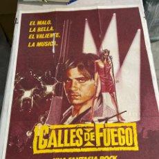 Cine: CALLES DE FUEGO. Lote 244967310