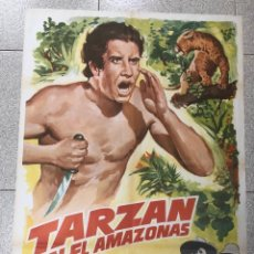 Cine: CARTEL TARZAN EN EL AMAZONAS. GLENN MORRIS. ELEANOR HOLM. 1978. Lote 245039035