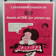 Cinema: MAFALDA , QUINO, ANIMACION . AÑO 1983. POSTER ORIGINAL. Lote 245075505