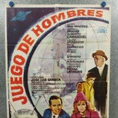Cine: JUEGO DE HOMBRES. JOSE LUIS GAMBOA, PEDRO MARI SANCHEZ, ANTONIO BRAÑAS. POSTER ORIGINAL. Lote 245083610