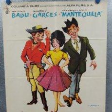 Cine: JUGADORES DE VENTAJA. ANTONIO BADU, MAURICIO GARCES, FERNANDO SOTO. AÑO 1962. POSTER ORIGINAL. Lote 245084280