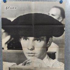 Cine: SANGRE EN EL RUEDO. ALBERTO CLOSAS, ÁNGEL TERUEL, FRANCISCO RABAL. AÑO 1962. POSTER ORIGINAL. Lote 245084670