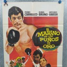 Cine: EL MARINO DE LOS PUÑOS DE ORO. PEDRO CARRASCO, SONIA BRUNO. AÑO 1970. POSTER ORIGINAL. Lote 245085930