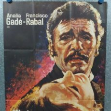 Cine: NADA MENOS QUE TODO UN HOMBRE. FRANCISCO RABAL, ANALÍA GADÉ. AÑO 1971. POSTER ORIGINAL. Lote 245086425