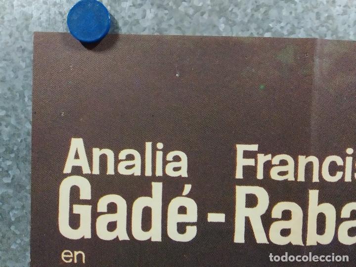 Cine: Nada menos que todo un hombre. Francisco Rabal, Analía Gadé. AÑO 1971. POSTER ORIGINAL - Foto 2 - 245086425