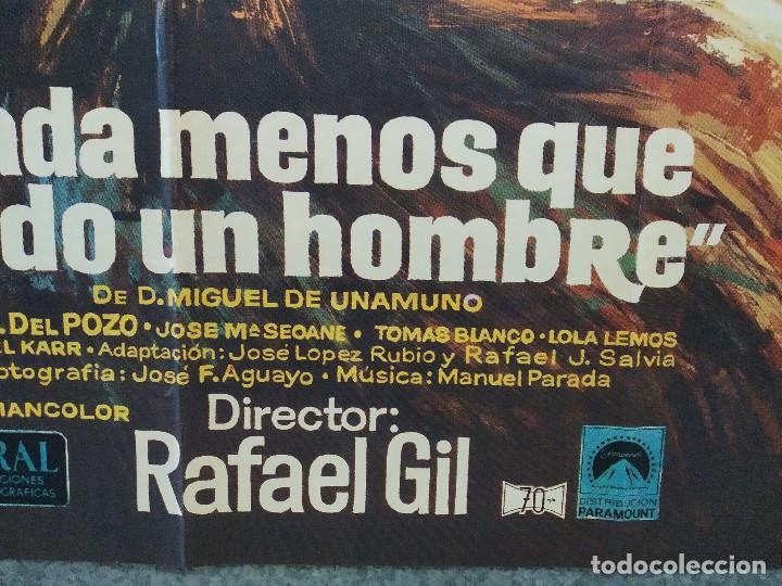 Cine: Nada menos que todo un hombre. Francisco Rabal, Analía Gadé. AÑO 1971. POSTER ORIGINAL - Foto 5 - 245086425