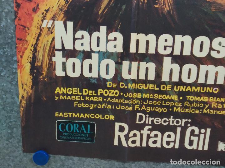 Cine: Nada menos que todo un hombre. Francisco Rabal, Analía Gadé. AÑO 1971. POSTER ORIGINAL - Foto 6 - 245086425