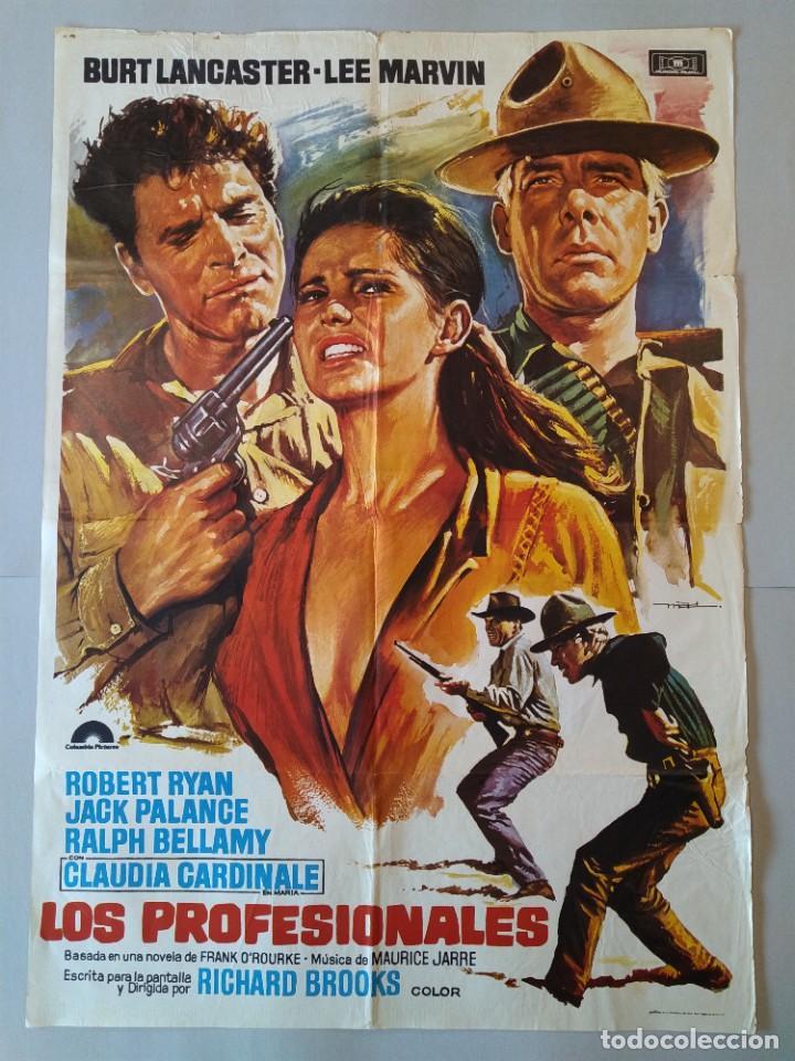 CARTEL CINE POSTER ORIGINAL - LOS PROFESIONALES BURT LANCASTER - LEE MARVIN 1975 - MAC ...L3423 (Cine - Posters y Carteles - Westerns)