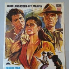 Cine: CARTEL CINE, POSTER ORIGINAL, LOS PROFESIONALES, BURT LANCASTER, LEE MARVIN, 1975, MAC .. L3423. Lote 245094710