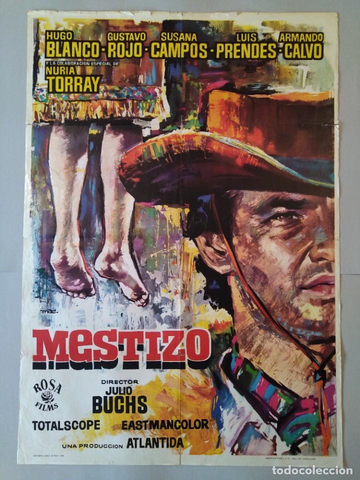 CARTEL CINE POSTER ORIGINAL - MESTIZO - AÑO 1966 - DIB. MAC ... L3424 (Cine - Posters y Carteles - Westerns)