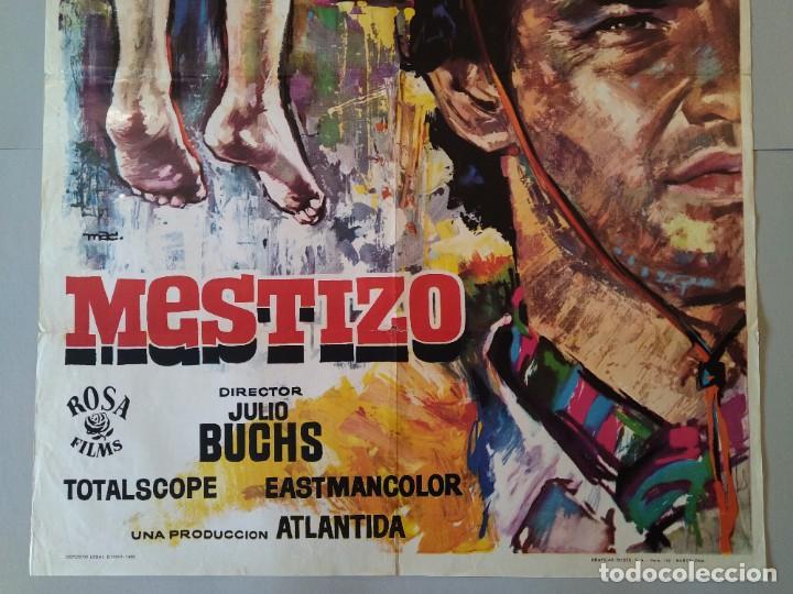 Cine: CARTEL CINE POSTER ORIGINAL - MESTIZO - AÑO 1966 - DIB. MAC ... L3424 - Foto 3 - 245096480