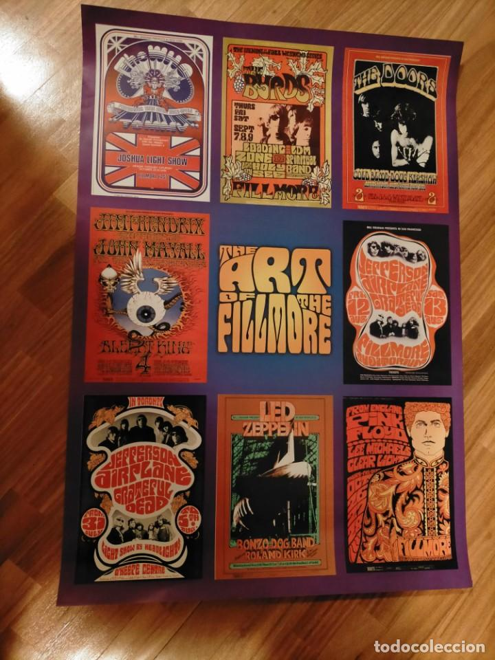 POSTER FILLMORE THE WHO JEFFERSON AIRPLANE JIMI HENDRIX GRATEFUL DEAD BYRDS LED ZEPPELIN PINK FLOYD (Cine - Posters y Carteles - Musicales)