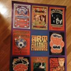 Cine: POSTER FILLMORE THE WHO JEFFERSON AIRPLANE JIMI HENDRIX GRATEFUL DEAD BYRDS LED ZEPPELIN PINK FLOYD. Lote 245097535
