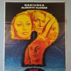 Cine: CARTEL ORIGINAL, DOS HOMBRES... Y EN MEDIO DOS MUJERES, NADIUSKA, ALBERTO CLOSA 1977, MAC... L3425. Lote 245097710
