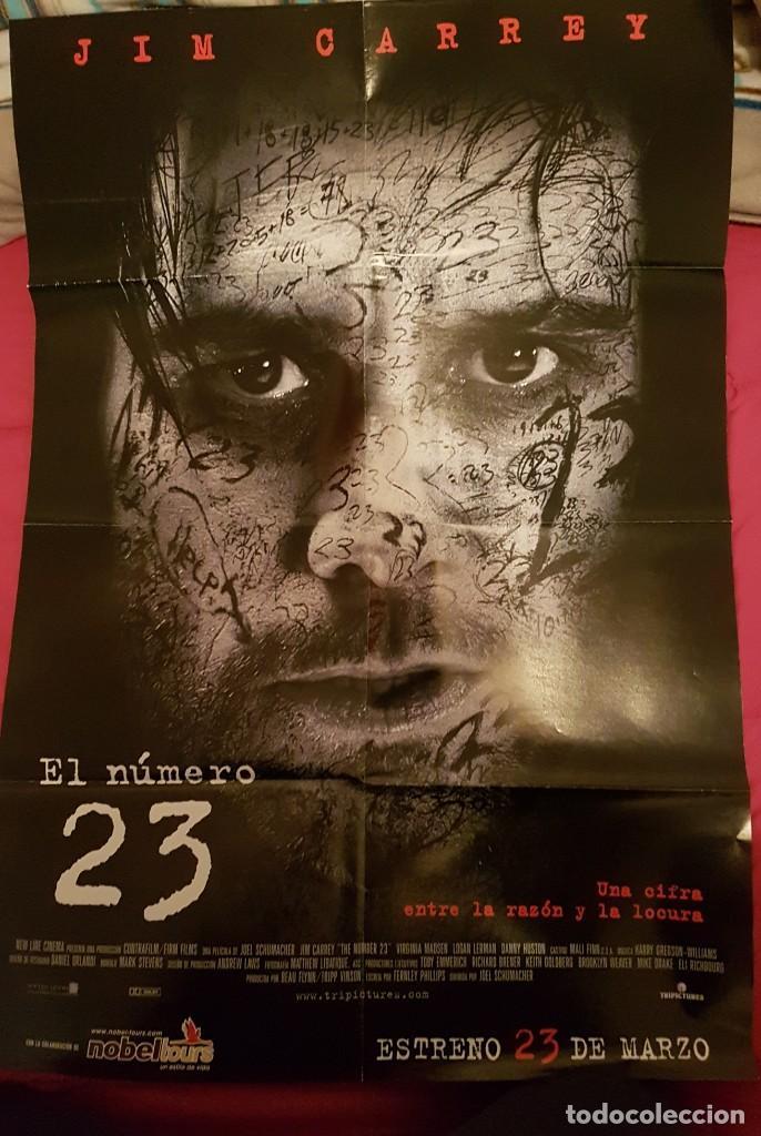 PÓSTER EL NÚMERO 23. JIM CARREY. (Cine - Posters y Carteles - Suspense)