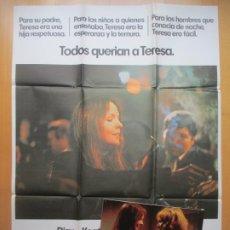 Cine: CARTEL CINE + 12 FOTOCROMOS BUSCANDO AL SR. GOODBAR DIANE KEATON MAC 1977 CCF217. Lote 245213520