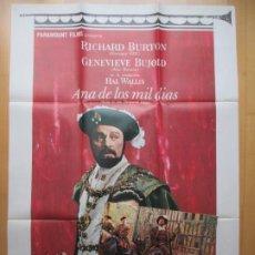 Cine: CARTEL CINE + 11 FOTOCROMOS ANA DE LOS MIL DIAS RICHARD BURTON 1970 CCF220. Lote 245216165