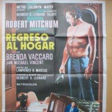 Cine: CARTEL CINE + 10 FOTOCROMOS REGRESO AL HOGAR ROBERT MITCHUM BRENDA VACCARO CCF222. Lote 245217680