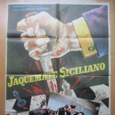 Cine: CARTEL CINE + 12 FOTOCROMOS JAQUE MATE SICILIANO ENRICO MARIA SALERNO MAC 1973 CCF229. Lote 245221015