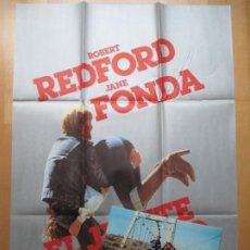 Cine: CARTEL CINE + 12 FOTOCROMOS EL JINETE ELECTRICO ROBERT REDFORD JANE FONDA1979 CCF231. Lote 245224625