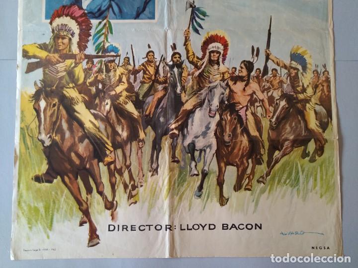 Cine: CARTEL CINE POSTER ORIGINAL - LA CARGA DE LOS INDIOS SIOUX - 1965 - DIB. ALVARO... L3426 - Foto 3 - 245250155