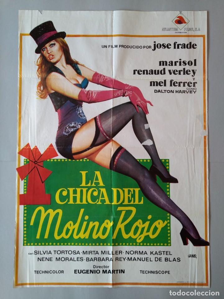 CARTEL CINE POSTER ORIGINAL - LA CHICA DEL MOLINO ROJO - MARISOL - 1973 - DIB. JANO... L3427 (Cine - Posters y Carteles - Clasico Español)