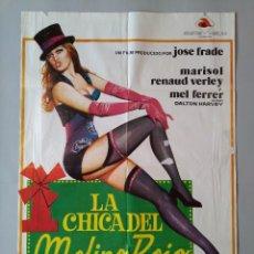 Cine: CARTEL CINE POSTER ORIGINAL - LA CHICA DEL MOLINO ROJO - MARISOL - 1973 - DIB. JANO... L3427. Lote 245253015