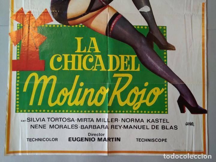 Cine: CARTEL CINE POSTER ORIGINAL - LA CHICA DEL MOLINO ROJO - MARISOL - 1973 - DIB. JANO... L3427 - Foto 3 - 245253015