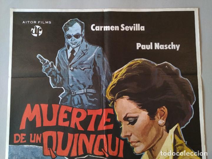 Cine: CARTEL CINE POSTER ORIGINAL - MUERTE DE UN QUNQUI - CARMEN SEVILLA - PAUL NASCHY 1975 .. L3428 - Foto 2 - 245254130